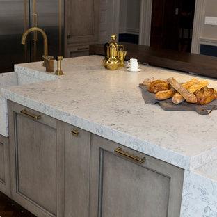 Beau Modern Kitchen Photos   Minimalist Kitchen Photo In Other With An  Integrated Sink, Quartz Countertops