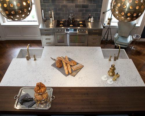 Helix Silestone Kitchen Design Ideas Remodel Pictures Houzz