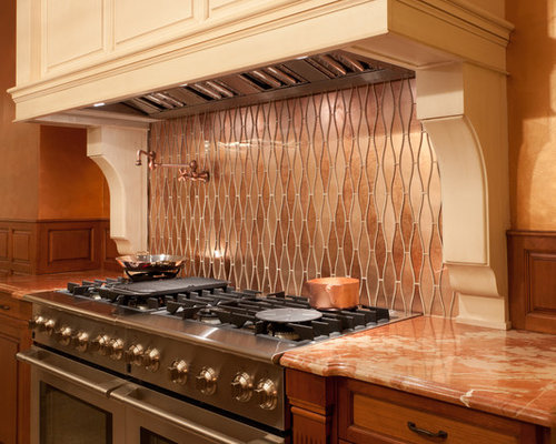 Artistic tile kitchens for Peach kitchen ideas