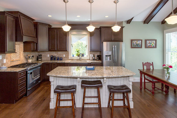 American Traditional Kitchen by Hibbs Homes