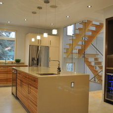 Contemporary Kitchen by Tanner Vine - 2Go Custom Kitchens Inc