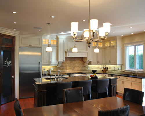 pictures of kitchens with dark cabinets and wood floors pencil thin backsplash houzz 24693