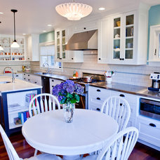 Farmhouse Kitchen by Seattle Custom Cabinets