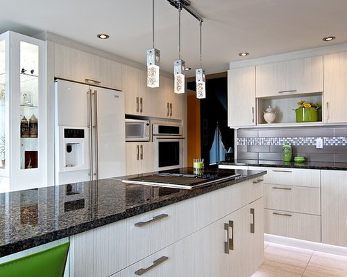 Gray Tile Backsplash Houzz