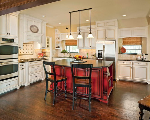 red kitchen islands kitchen island houzz 1780