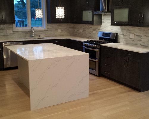 High Gloss Thermo Foil Cabinets Ann Sacks Tile Backsplash