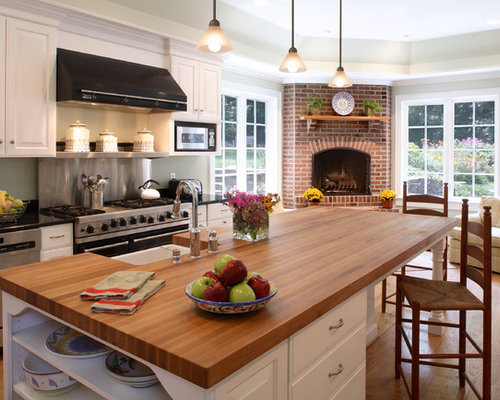 Wood Island Countertop Home Design Ideas Pictures Remodel And Decor