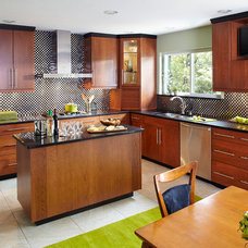 Transitional Kitchen by Curb Appeal Renovations