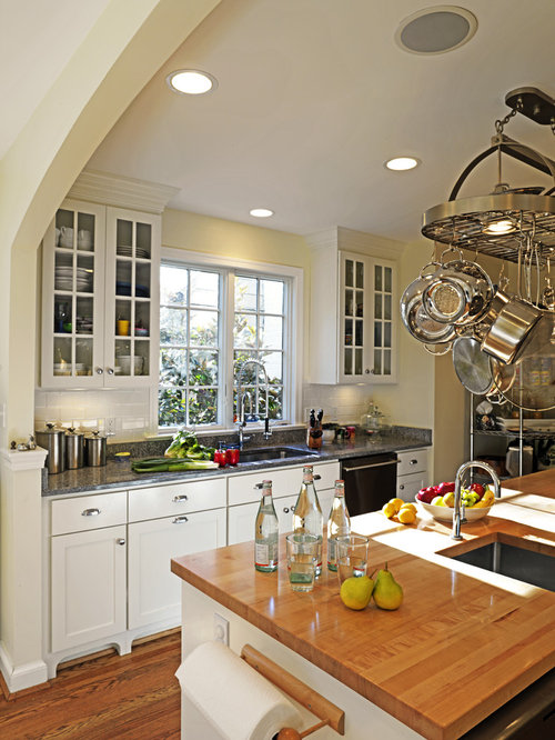 stained kitchen cabinets pot rack houzz 2461