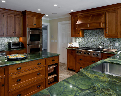 green granite countertops - newcountertop