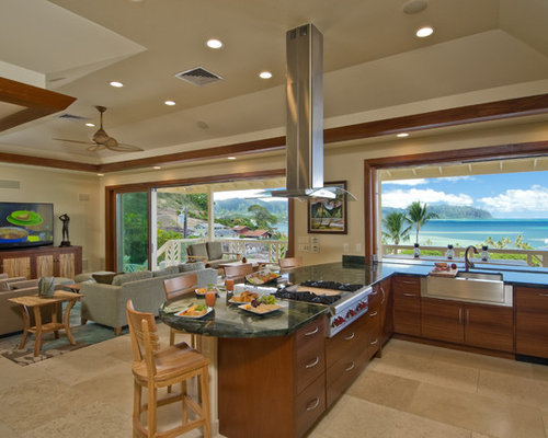 blue and green kitchen tropical kitchen design ideas amp remodel pictures houzz 4800