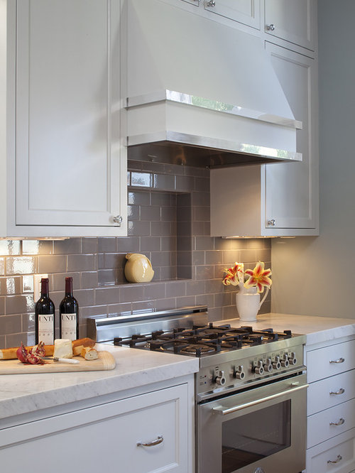 Gray subway tile backsplash houzz for Kitchen backsplash images on houzz
