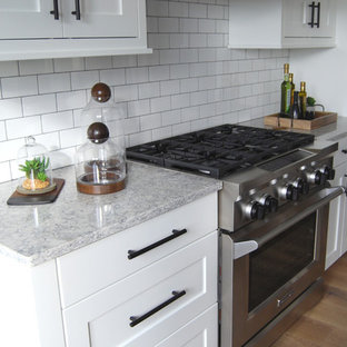 Example Of An Eat In Kitchen Design Grand Rapids With A Single Bowl