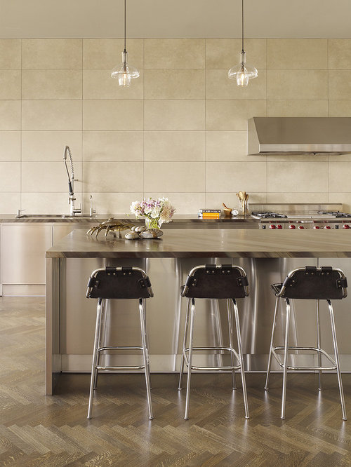 Kitchen Backsplash Large Tiles large tile backsplash | houzz