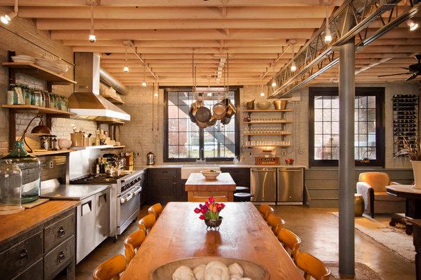 Industrial Kitchen by Bennett Frank McCarthy Architects, Inc.