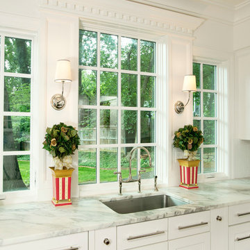 Kitchen and Enclosed Porch created in new Addition