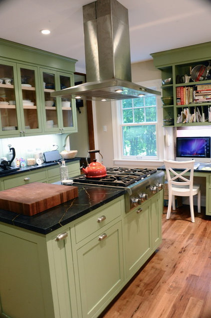 traditional kitchen Kitchen and family room renovation