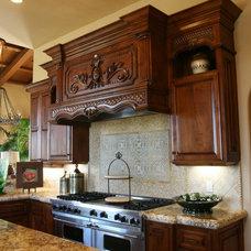 Mediterranean Kitchen by Quality Woodworks Inc.