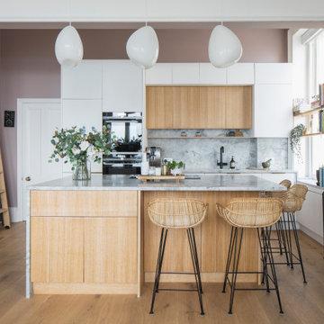 Kitchen and Kitchen Island