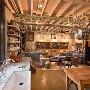Kitchen - industrial kitchen idea in DC Metro