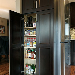 Kitchen & Media Wall Espresso Brown Cabinetry