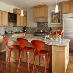 eclectic kitchen by Andre Rothblatt Architecture