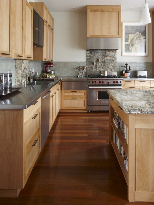 Transitional Kitchen Photo In San Francisco With Stainless Steel Appliances Countertops Shaker