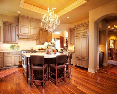 Acacia wood floor houzz for Acacia wood kitchen cabinets