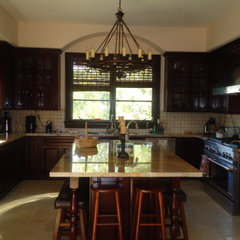 mediterranean kitchen by Anisa Interiors