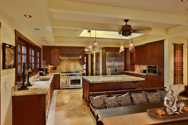 Asian Kitchen by Architectural Design & Construction