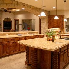 Mediterranean Kitchen by Asomoza Homes - Design Build