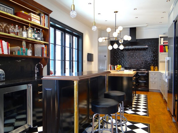 Eclectic Kitchen by Francois Berube Interiors