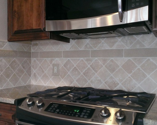 kitchen backsplash 4 x 4 travertine diagonal layout
