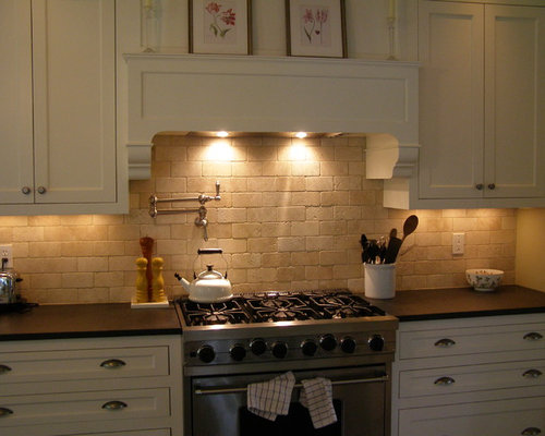 Tumbled Stone Backsplash Houzz