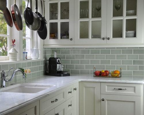 Green Ceramic Tile Backsplash Home Design Ideas, Pictures, Remodel and Decor