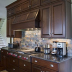 French Country Kitchen with Angled Penninsula - Traditional - Kitchen - Chicago - by Normandy ...