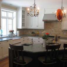 Contemporary Kitchen by Fowler Tile Design