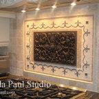 fascinating kitchen islands remodeling waukesha wi schoenwalder | Bronze tile backsplash over stove - Traditional - Kitchen ...