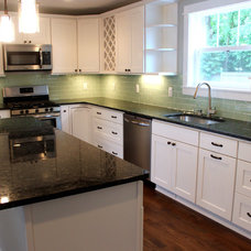 Transitional Kitchen by Discount Glass Tile Store