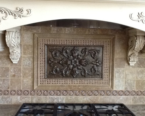 medallion backsplash houzz