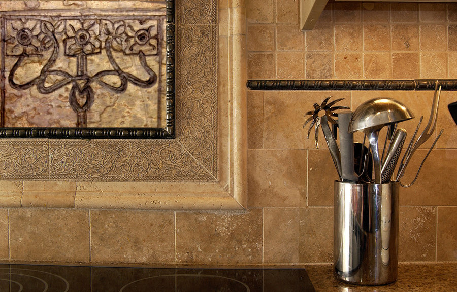 Kitchen Backsplash Tile- Craftsman Style Floral
