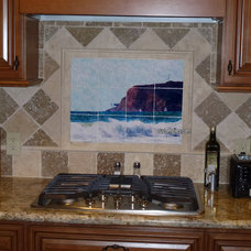 Traditional Kitchen by custom-tiles.com