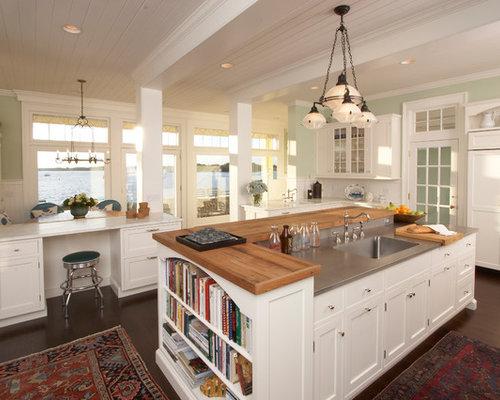 cuisine bord de mer avec un vier int gr photos et. Black Bedroom Furniture Sets. Home Design Ideas
