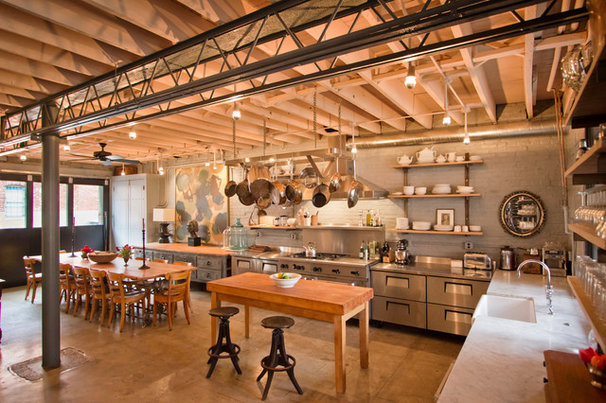 Industrial Kitchen by Bennett Frank McCarthy Architects, Inc.