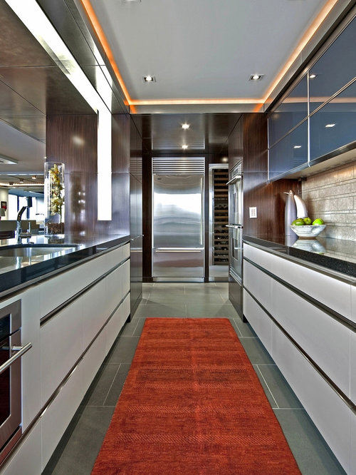Inspiration For An Industrial Kitchen Remodel In Seattle With An Undermount  Sink, Flat Panel