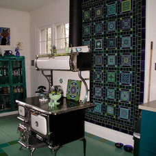 Eclectic Kitchen by Firehouse Tileworks by Clare Dohna