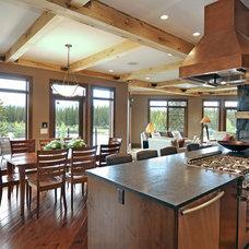 Contemporary Kitchen by Bruce Johnson & Associates Interior Design