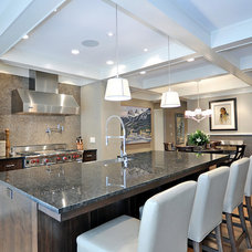 Transitional Kitchen by Bruce Johnson & Associates Interior Design