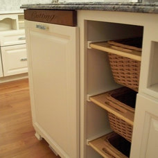 Traditional Kitchen Kitchen Built-In Cutting Board and Baskets