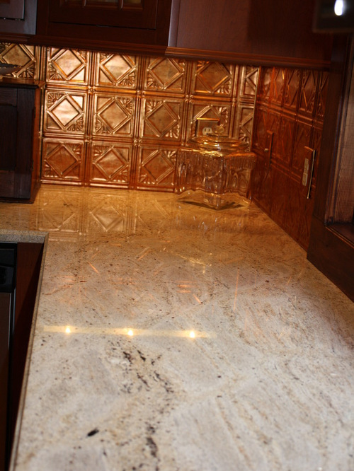 Copper Tile Backsplash Houzz